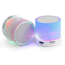 Colorful Led Mini Wireless Bluetooth Music Speaker Portable Stereo personalized crack Bluetooth Speaker For Cellphone Notebook 3