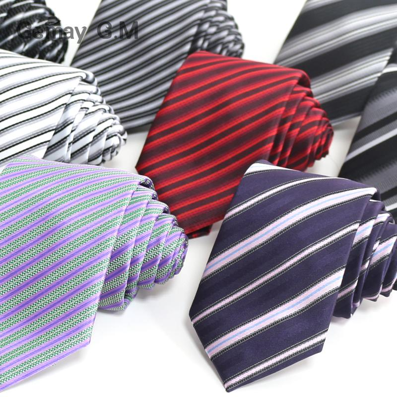 New Fashion Silk Mens Tie Jacquard Stripe Necktie for Man 8cm width Business Wedding Party Suits Ties(China (Mainland))