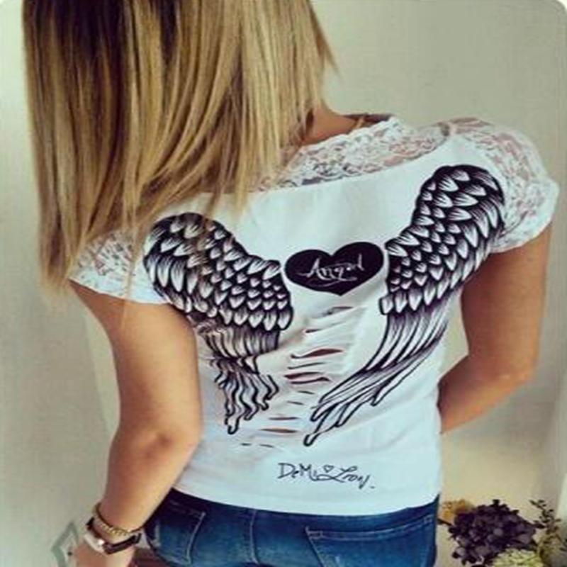 Майка с крыльями на спине