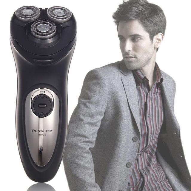 Горячая Продажа мужская Большой Мощности 3D Плавающей Головкой Аккумуляторная Электробритва Мужчины Razor Drop Доставка