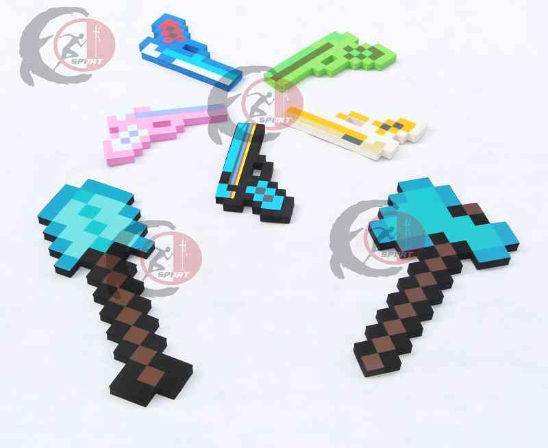 Minecraft игрушки Minecraft пена алмазный меч кирка топор лопата пистолет EVA конструкторы подарочные игрушки для детей