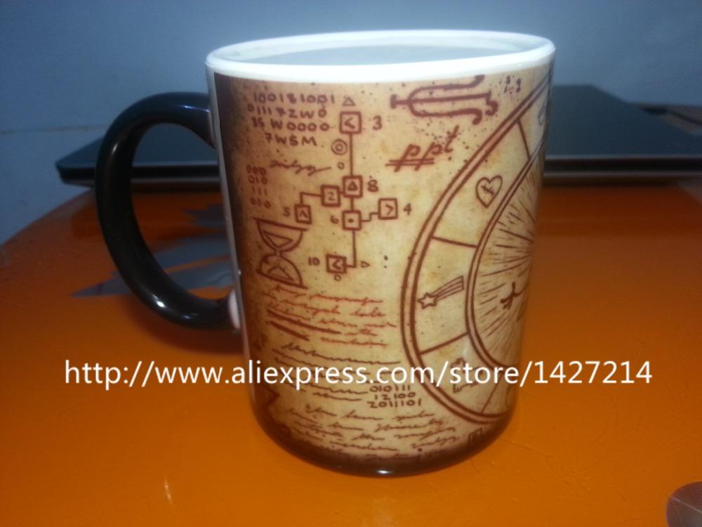 Gravity Falls Dipper Pines cool photo morphing coffee mugs morph mug novelty heat changing color transforming printed Tea Cups(China (Mainland))