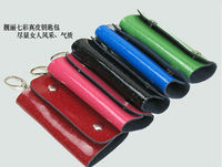 FREE SHIPPING 1PCS Fashion Leather Key holder case bag at various color