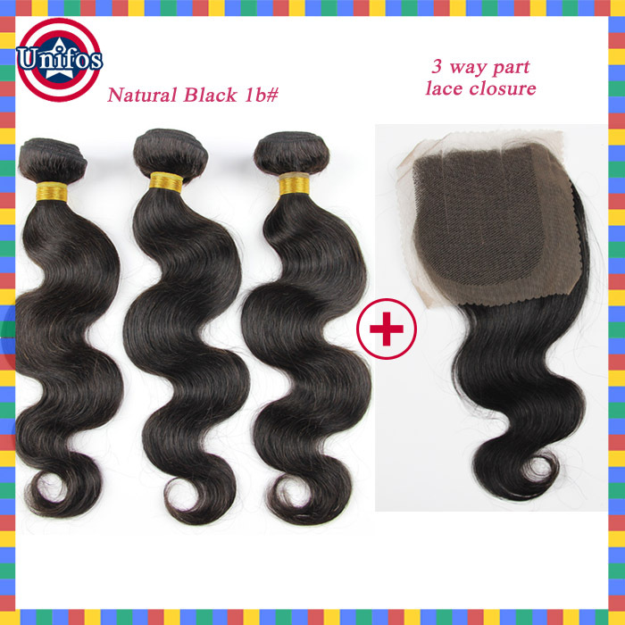 Brazilian Bodywave Virgin Hair With Closure Cheap Ombre Hair Extensions With Closure 3 Bundles Brazilian Body Wave With Closure<br><br>Aliexpress