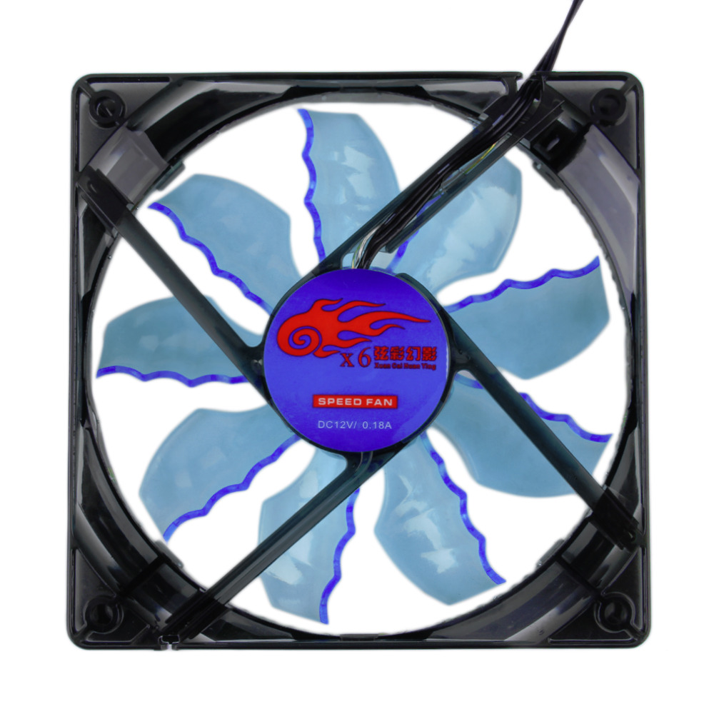 Hot New Cool & Quiet 15 Blue/Green LED Desktop Pc Computer Case Cooling Fan Wholesale(China (Mainland))