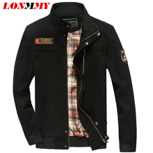 Buy LONMMY M-5XL 2017 Spring jacket men coat Cotton Army casual mens jackets coats military jacket men clothes Plus size overcoat for $34.57 in AliExpress store