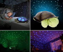 4 Colors Cute Musical Turtle Led Night Light Sky Star Projector Baby Kids Bedroom decoration Toy Christmas Children's Day Gift(China (Mainland))