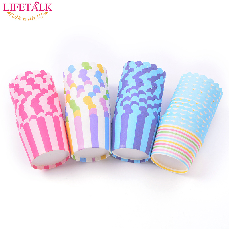 Cupcake Paper Design : New Arrival 100pcs/lot Mix 4 Colorful Strip Design ...