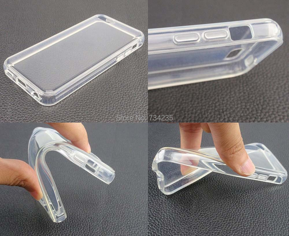 For Apple iPhone 5C Clear Covers Transparent Crystal Soft TPU Silicone Gel Fundas Etui Cover Phone Case