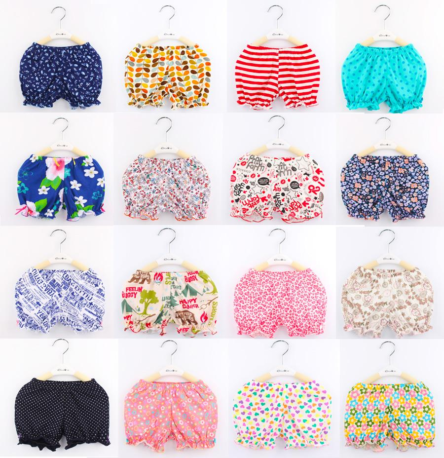 Children Shorts kids Pants 2015 summer Brand girls shorts baby cotton boys girl print dots Flower pant - Behins store