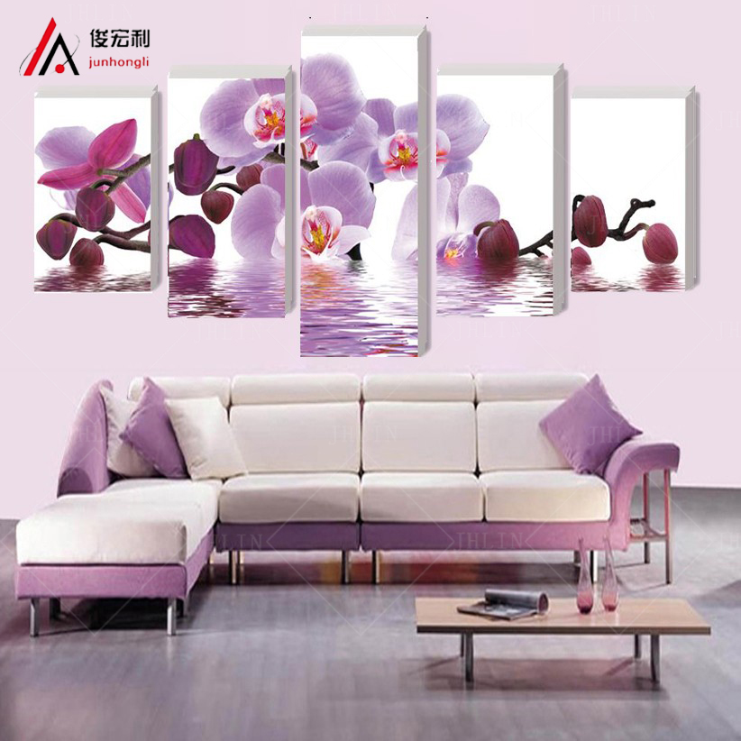 (no frame)wall art home decor purple butterfly wall pictures for living room modular picture paintings cuadros poster cuadros(China (Mainland))
