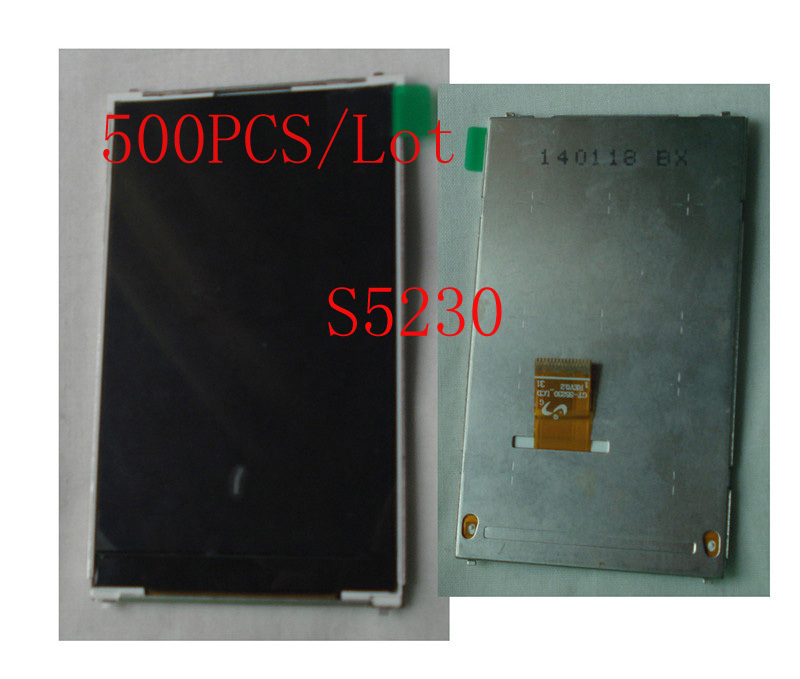 (SS2S5230500DHL)(Warranty 6 Months)(500PCS/Lot DHL EMS Free)100% Top Quality Guarantee for Samsung S5230 LCD Screen Display(China (Mainland))