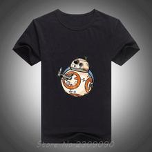 Buy 2017 summer cool mens T shirt Star Wars BB 8 Robot Funny Design Printed tees cotton mens shirt for $7.47 in AliExpress store