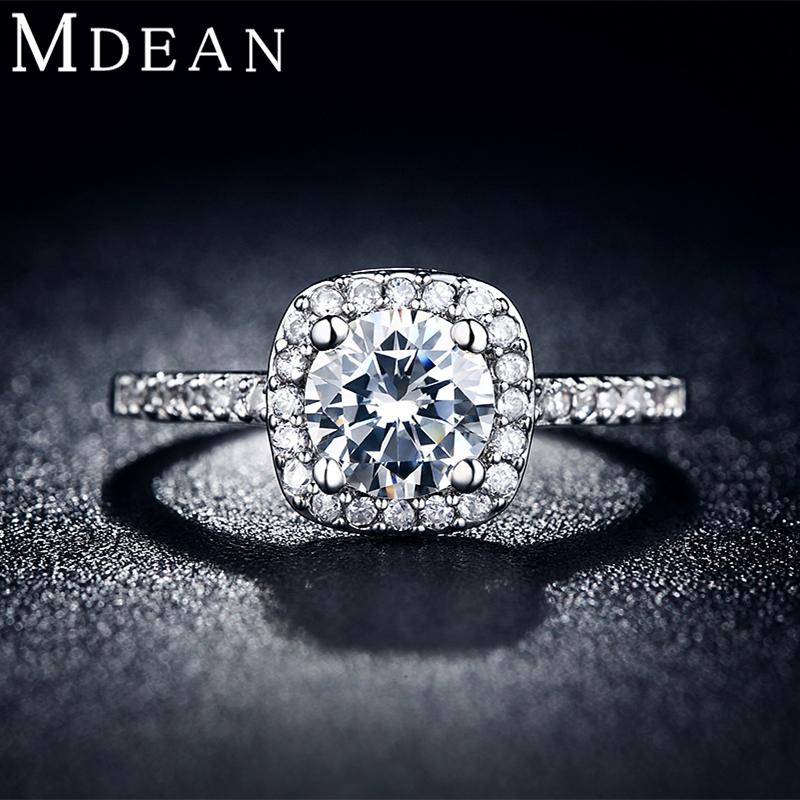 Mdean fedi per le donne oro bianco anelli di fidanzamento dei monili ...