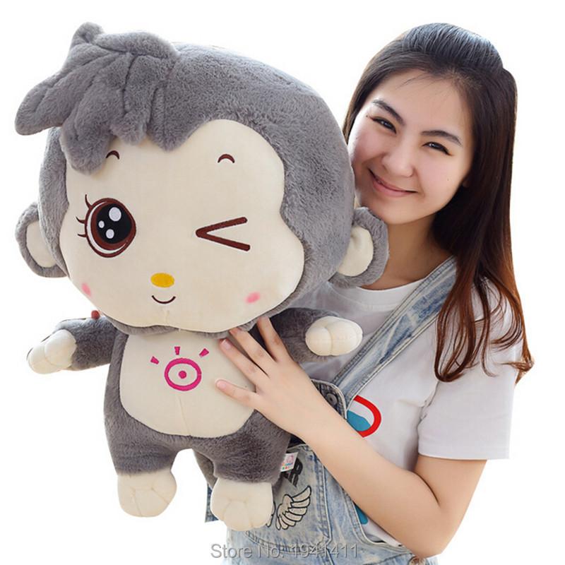 30 CM lovely plush sunshine pink/brown/grey monkey toy smile monkey toy birthday gift(China (Mainland))