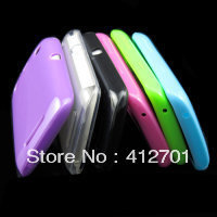 Wholesale Candy Color Soft TPU Gel Glossy skin case cover for BlackBerry Curve 9350 / 9360 / 9370,DHL/EMS free shipping 100pcs(China (Mainland))