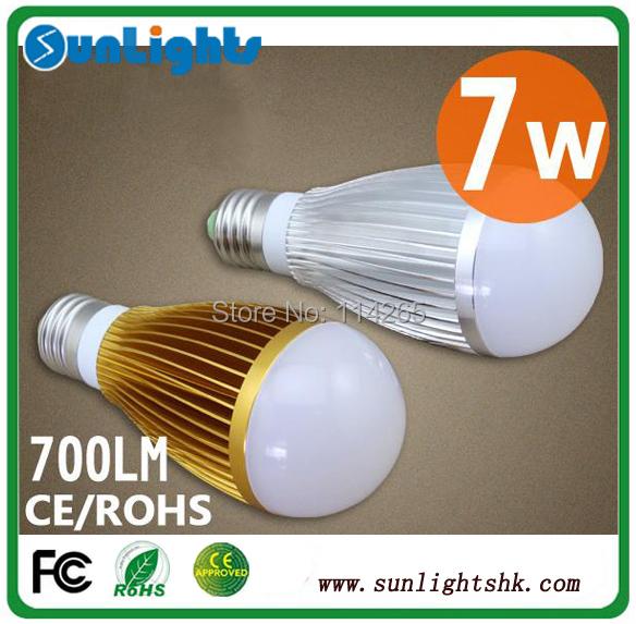 Dimmable 9w 7w 5w 4w 3W  E27 E14 B22 base type warm / cold white LED bubble ball lamp lights bulb CE free shipping