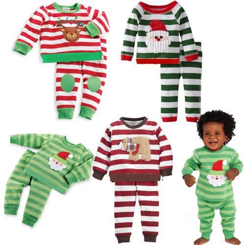 Winter baby girl boy christmas outfit santa tracksuit korean kids