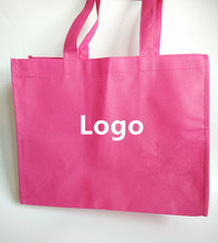 300pcs/lot Customized Promotional Nonwoven Gift Bags Colorful Plain PP Non woven Shopping Bags(China (Mainland))