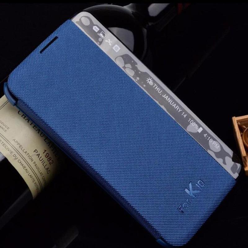 LG K10 LTE K420N K430 K430ds F670 Case Smart PU Leather Phone Case Sleep Wake LG K10 X Power Quick View Cover Coque