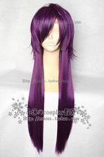 Wholesale& heat resistant LY free shipping>>>Hakuouki Calendar Edition/Almanac Edition Saito A Long Light Purple Cosplay Wig