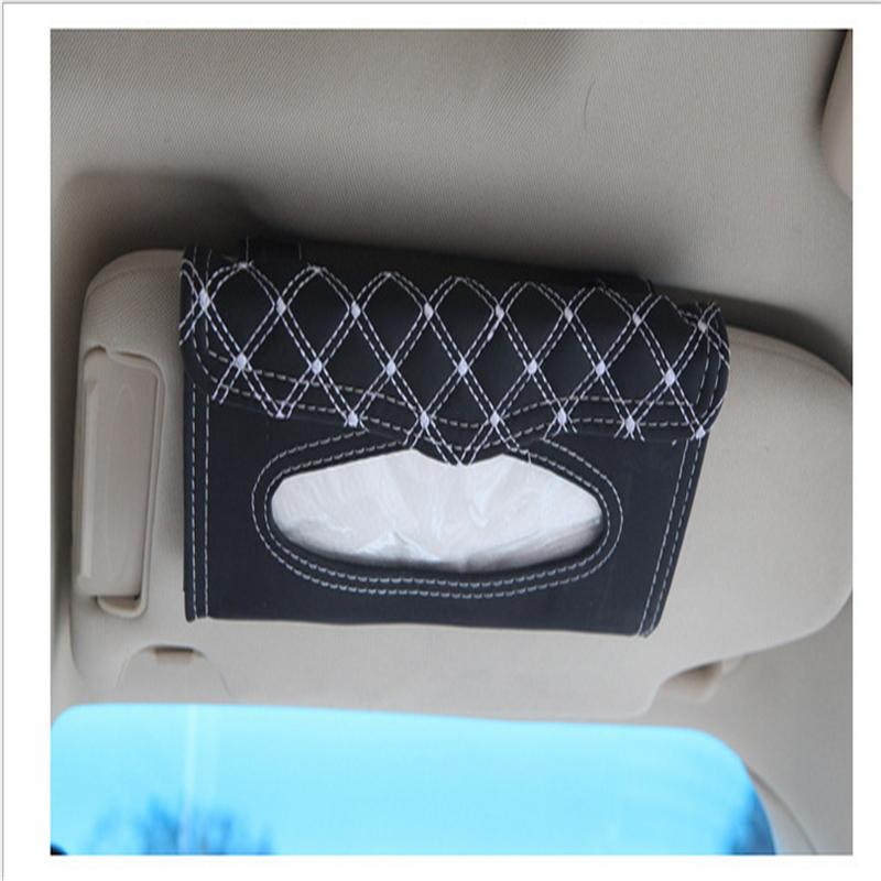 Car visor tissue box car accessories Clipboard tissue boxes Napkin Holder Auto Parts free shipping(China (Mainland))