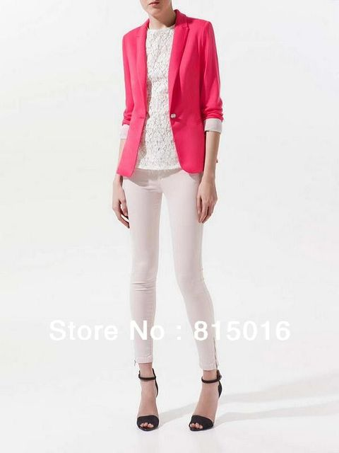 Frees shipping 2013 Lady's coat with 6 color choice,long sleeve one button separates suits women's jacket,Suit for Spring,Autumn