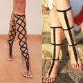 1 Pair Sexy Beach Crochet handmade rope Long Anklet Barefoot Sandals Nude shoes Anklet Barefoot Foot