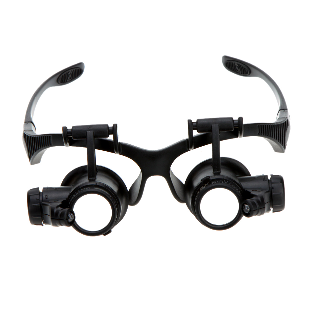 10X 15X 20X 25X Binocular Loupe Glasses Magnifier magnifying glass with LED Light for Jewelry Appraisal Watch Repair(China (Mainland))