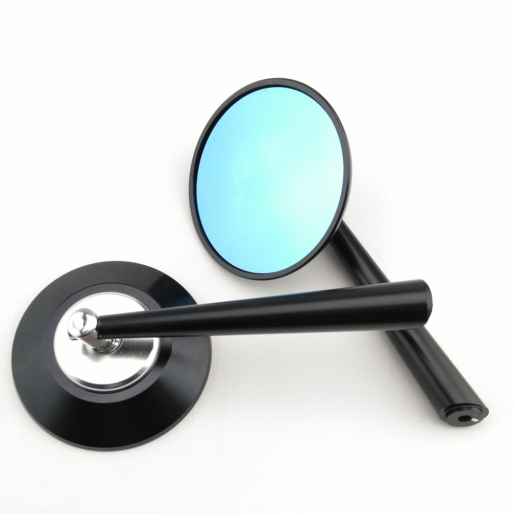 Black & Silver Round CNC Motorcycle motorbike side Mirror Chrome Rearview Pair fashion hot - Taizhou Seth Auto&Motorcycle Parts Co.,Ltd store