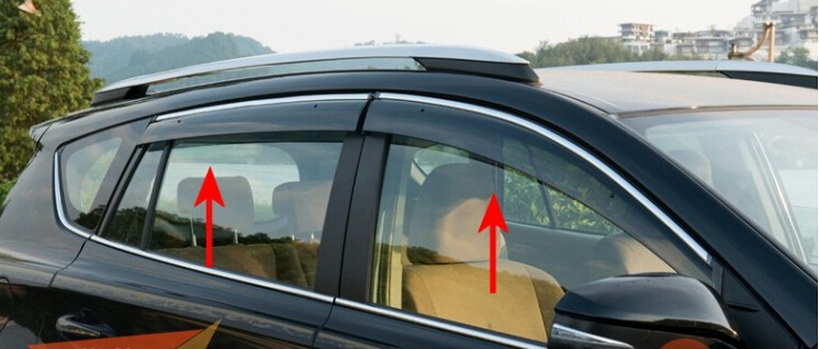 Window Visor Vent Shades Sun Rain Guard For Rogue X-Trail T32 2014 2015<br><br>Aliexpress