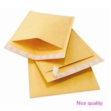 Best Price 50 pcs/lot  strong Self-Adhesive Padded Envelope Shipping Yellow Post Bag Universal 120*178 mm Kraft Bubble Bag(China (Mainland))