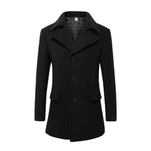 New 2015 Mens Designer Clothing British Style Trench Coat Winter Autumn Wool Jacket Windbreaker Men Overcoat Casacos 2M0135(China (Mainland))