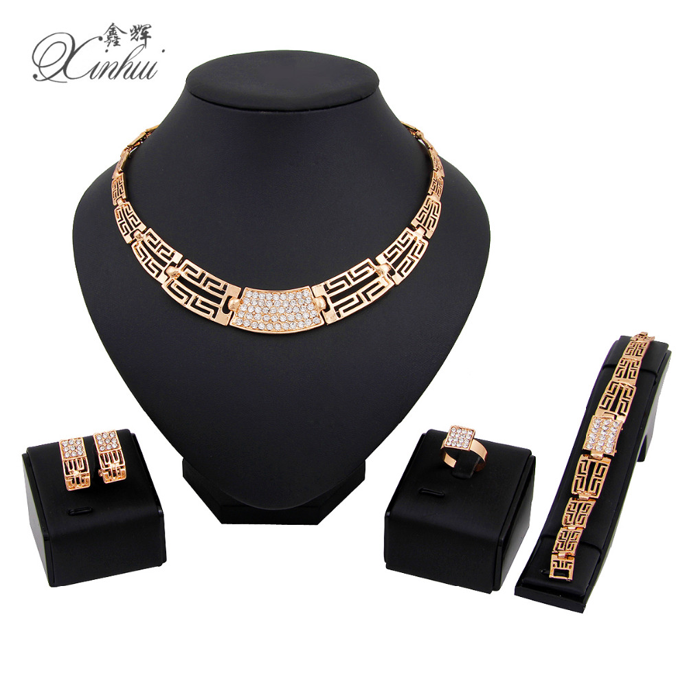 2016 New Fashion women Wedding Bridal Accessories Party Jewelry 18K Gold Plated African Beads Costume Jewellery Sets(China (Mainland))