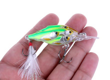 Buy 1Pcs Crazy Crankbait Group Fish Bait Artificial Feather Wobbler Bait 6.5cm 6g Swim Jigging Lure Pike Trout Fishing Tackle for $2.44 in AliExpress store