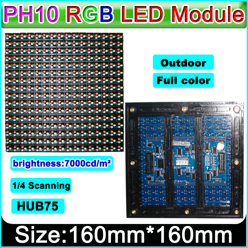 P10 Outdoor Full Color LED display module Strongly recommended,Video ,Graphic, Picture, Text Advertising led display Panel.(China (Mainland))