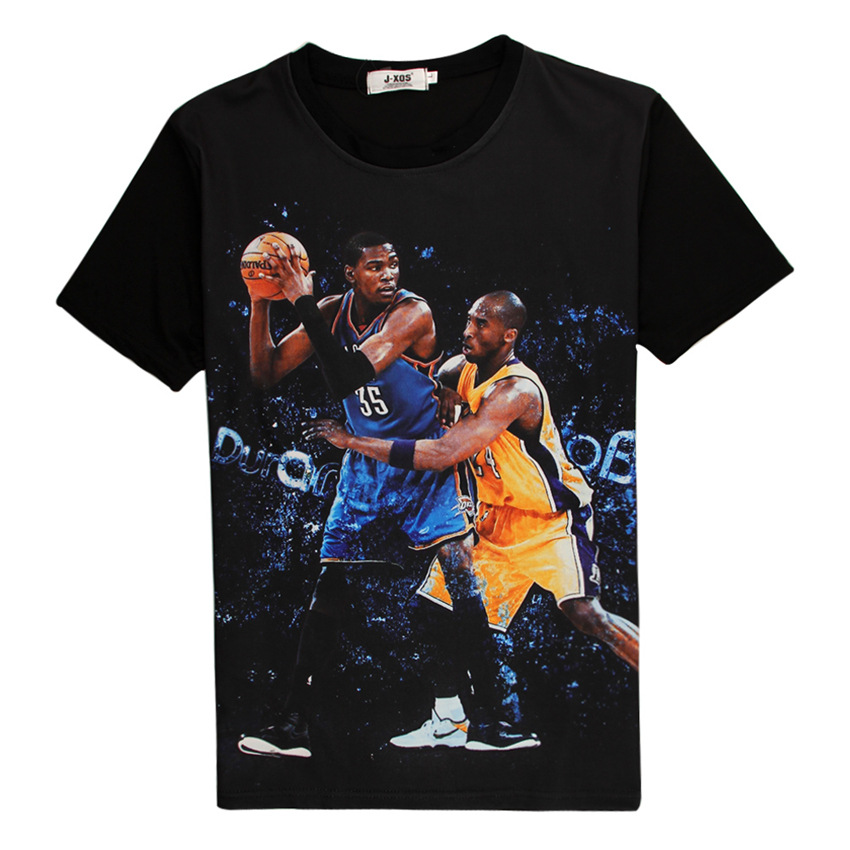 T Shirt Men 2016 Newest 3D T-shirt Basketball Player James Harden Kobe Curry Durant Printed Sport Shirts Cool Tee Shirt Homme(China (Mainland))