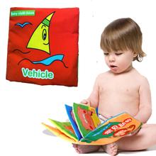 neue bunte weichen Tuch baby kind Intelligence Development lernen Bild cognize Fahrzeug Buch(China (Mainland))