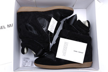 Isabel Marant horsehair black women s genuine leather sneakers
