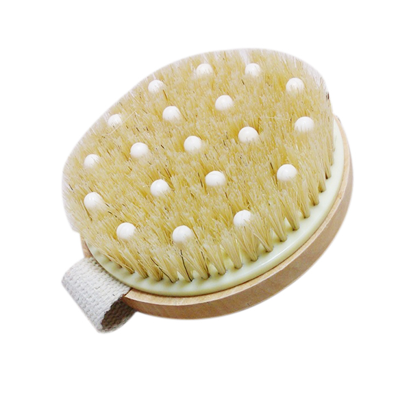 Bath Shower Bristle Brushes Massage Body Brush with Band Wooden Shower Body Bath Brush(China (Mainland))