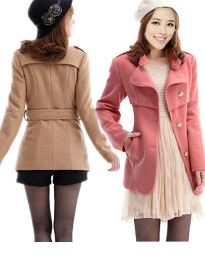 2013 spring slim woolen outerwear female medium-long plus size overcoat - bingwen chen's store