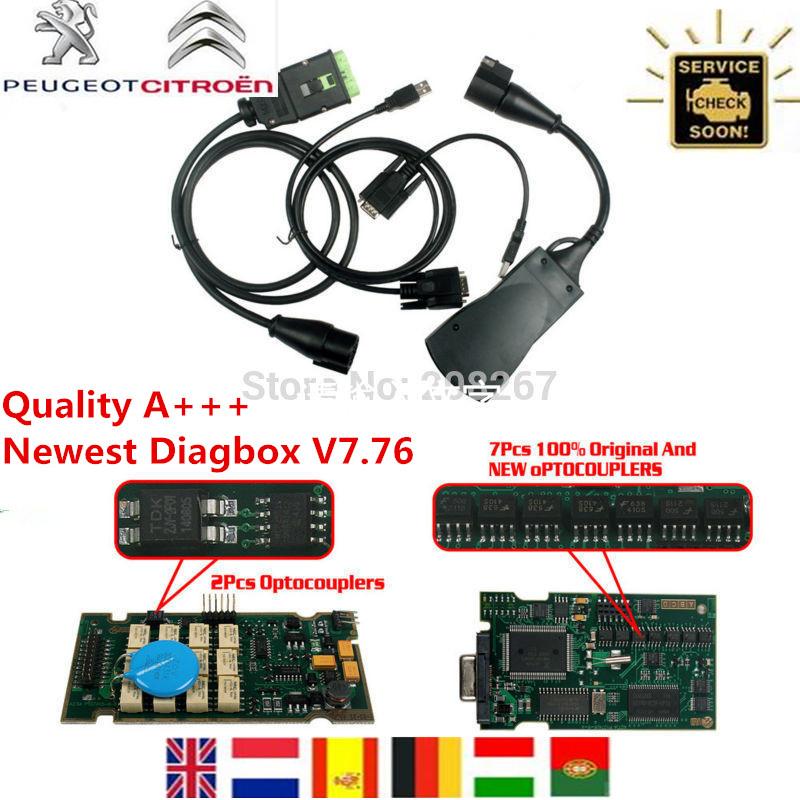 Quality A+++ Serial No.921815C lexia3 V48 PP2000 V25 Diagnostic Tool Newest Diagbox 7.65 lexia 3 pp2000 With Original Full Chip(China (Mainland))