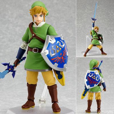 2016 hot font b Anime b font Legend of Zelda Link with Skyward Sword Figma 153