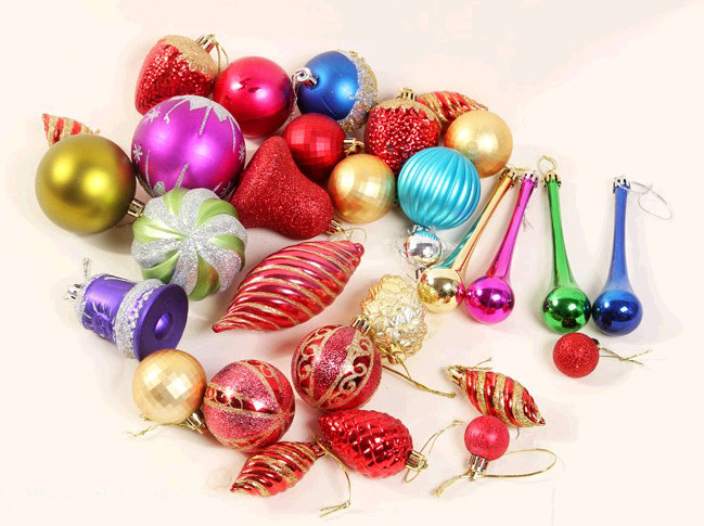 HOT Sell Many colors Mix Christmas decoration,10-18 pcs/set different styles of Christmas ball ornament for Christmas tree