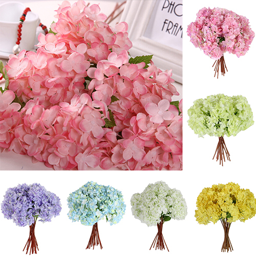 1 Bouquet Artificial Craft Hydrangea Party Wedding Bridal Plastic Flower Decor 8PS5(China (Mainland))