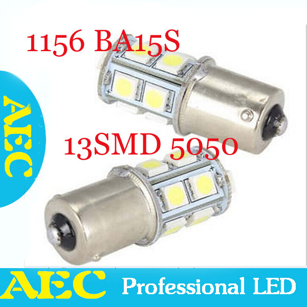 100X Auto led lamp S25 BAY15D 1156 13 led smd 5050 13SMD 3 chips car led tail lap turn signal light 360 lighting Car Lights<br><br>Aliexpress