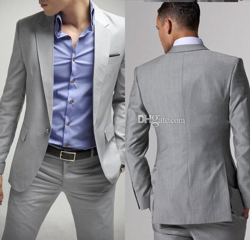 2015 reci233n llegado de luz trajes de boda gris para hombre