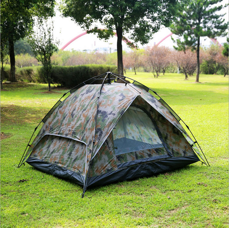 Camo Tent Instant : Camo waterproof automatic outdoor person double layer