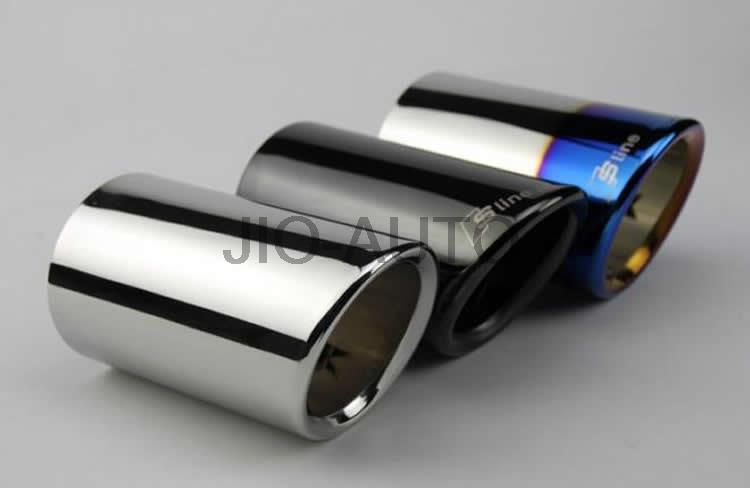 auto accessories 3 colors 2 pieces For Audi Q5 A1 A3 A5 A4 B8 High quality Stainless steel Car exhaust pipe cover muffler tip(China (Mainland))
