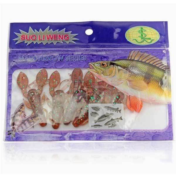 Downey 5PCS Fishing Lure Fresh Water Soft Bait Crab Soft Bait Artificial Bait(China (Mainland))